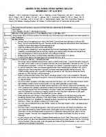 Annual Town Meeting Minutes 18 April 2012