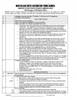 Town Council Minutes 27th March 2014