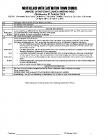 Town Council Minutes 5th October 2015