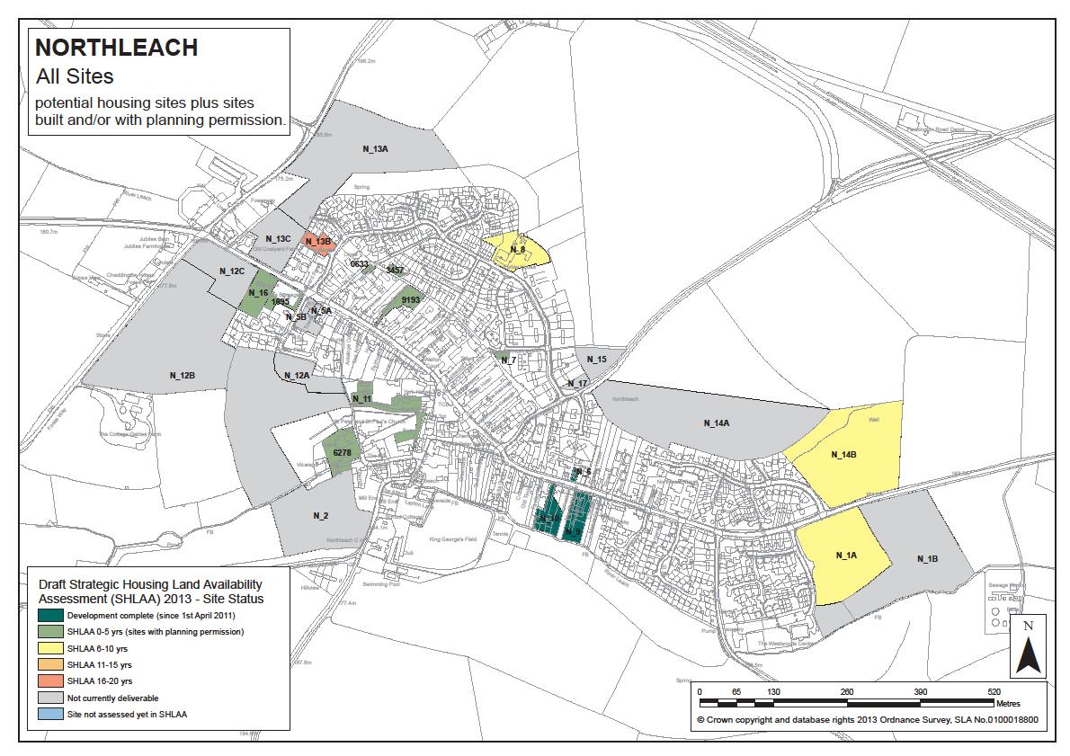 Northleach SHLAA map June 2014
