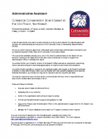 CCB Administration Assistant advert 15 Jan 15