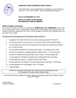 Agenda Annual Town Meeting 22nd April 2015
