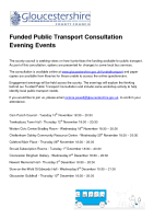 Funded Public Transport Consultation Evening Events – Nov2015
