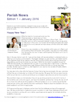 Parish Newsletter_Edition 1_January 2016