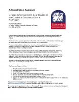 CCB Administrative Assistant advert Feb 17