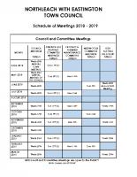 Meetings Schedule Final 2018-19