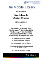 The Mobile Library – Northleach Aug-Nov 18