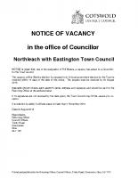 Northleach – Notice of Vacancy – 09082018