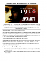 Info pack for Human Poppy participants