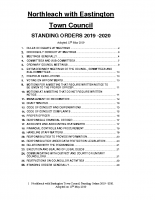 Standing Orders 2019 -2020 Adopted 15th May 2019