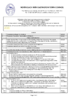 Town Council Agenda 22nd January 2020