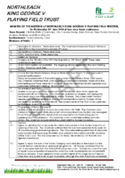 DRAFT Minutes of the KGV Playing Field Trustees on 24th June 2020