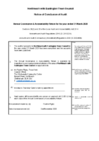 Notice of Conclusion of Audit YE 31 March 2020