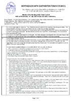Minutes Town Council 15th July 2020