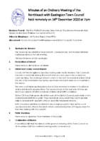 Minutes Town Council 16 December 2020