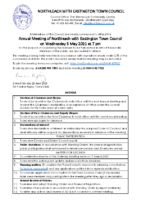 Annual Council Meeting Agenda for 5 May 2021