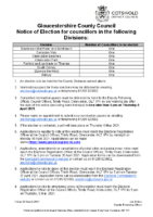 Notice of Election – County