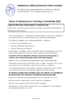 Terms of Reference for Standing Committees – 20 March 2021