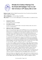 Minutes Town Council 20 January 2021