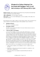 Minutes Town Council 24 February 2021