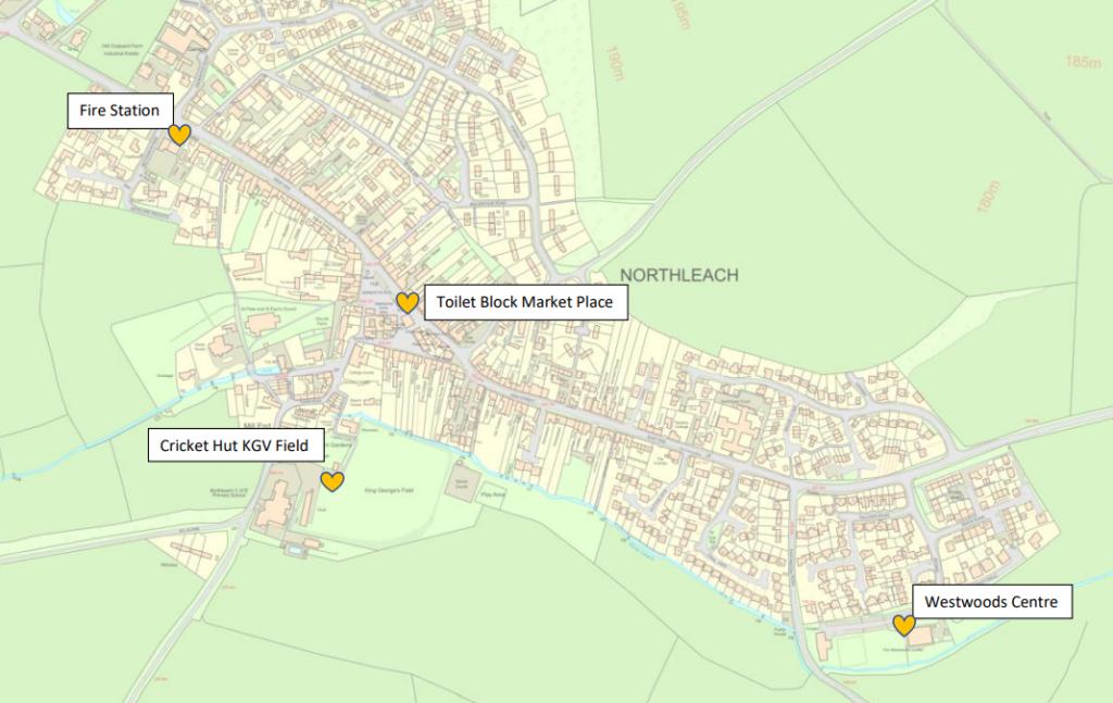 Northleach Defibrillator Locations