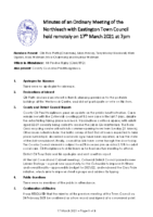 Minutes Town Council 17 March 2021