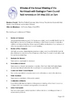 Minutes Town Council 5 May 2021
