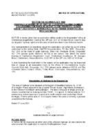 NOTICE OF APPLICATION – Dover House – BES signed